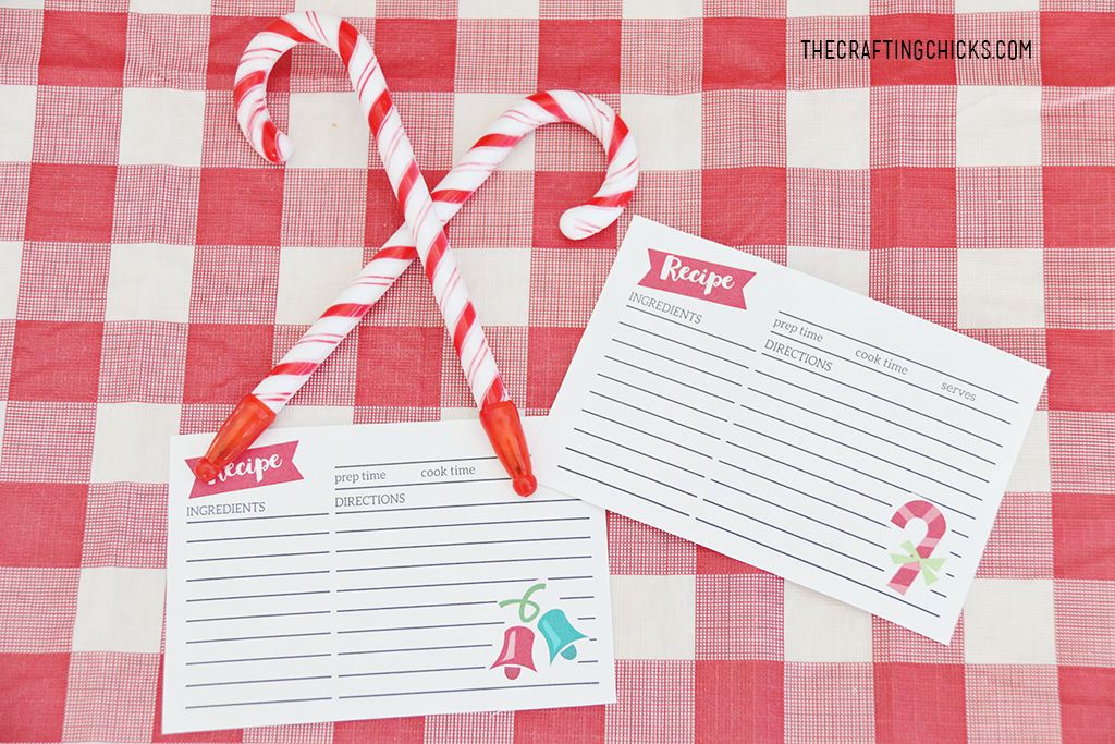 Cookie Exchange Party Recipe Cards