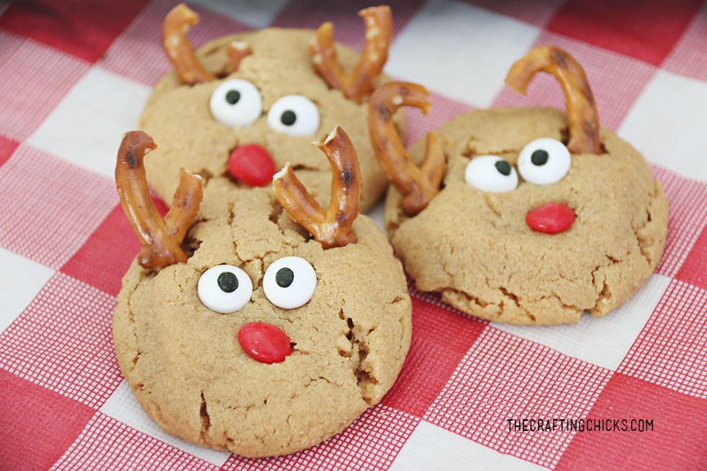 Peanut Butter Reindeer Cookies The Crafting Chicks