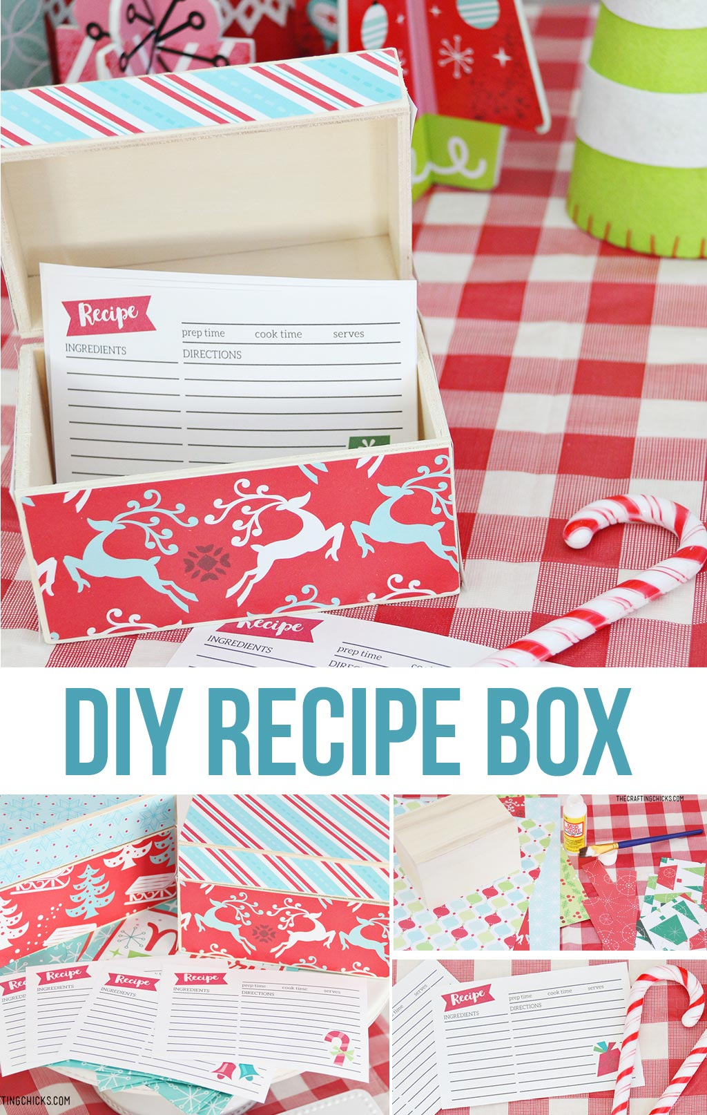 DIY Recipe Box and Printable Recipe Cards