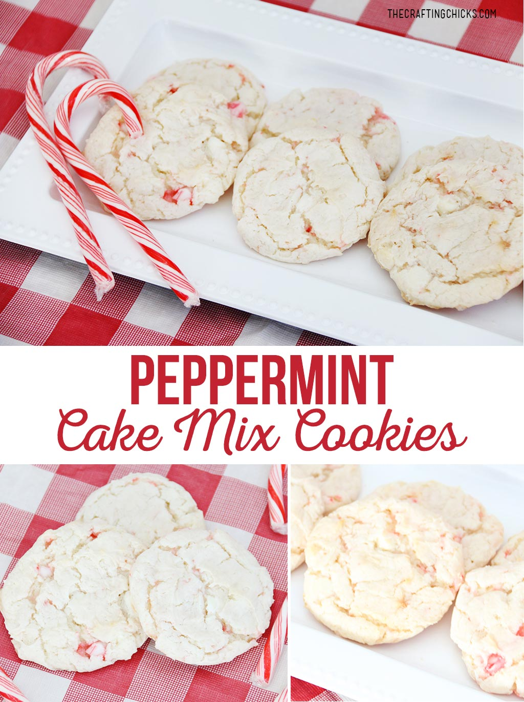 Peppermint Cake Mix Cookies Recipe