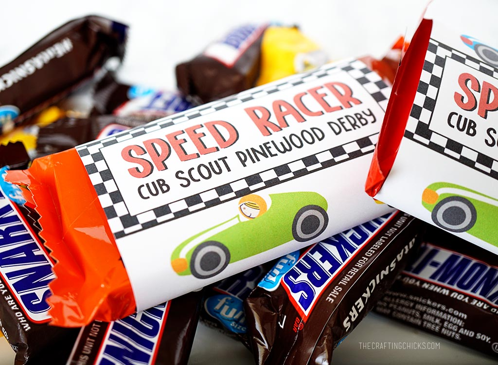 Pinewood Derby Treat Wrappers