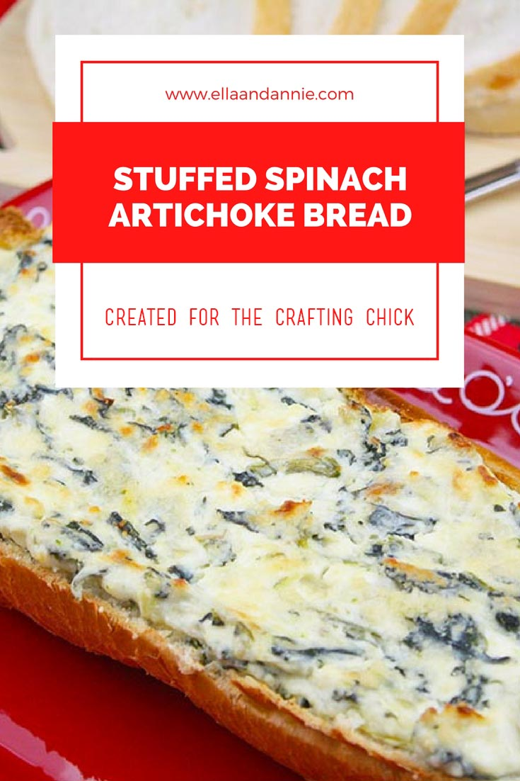 Spinach Artichoke Dip Stuffed Bread | Simple appetizer recipe for parties