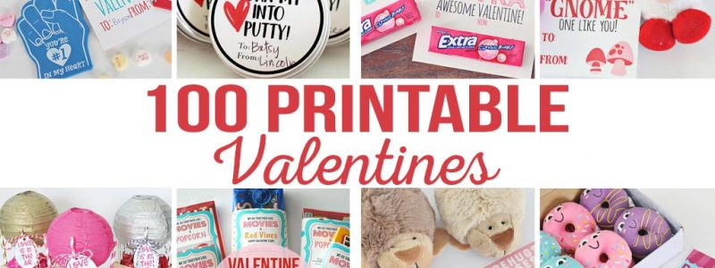 100 Printable Valentines