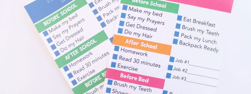 Daily List Chore Chart for kids. Great for older kids.