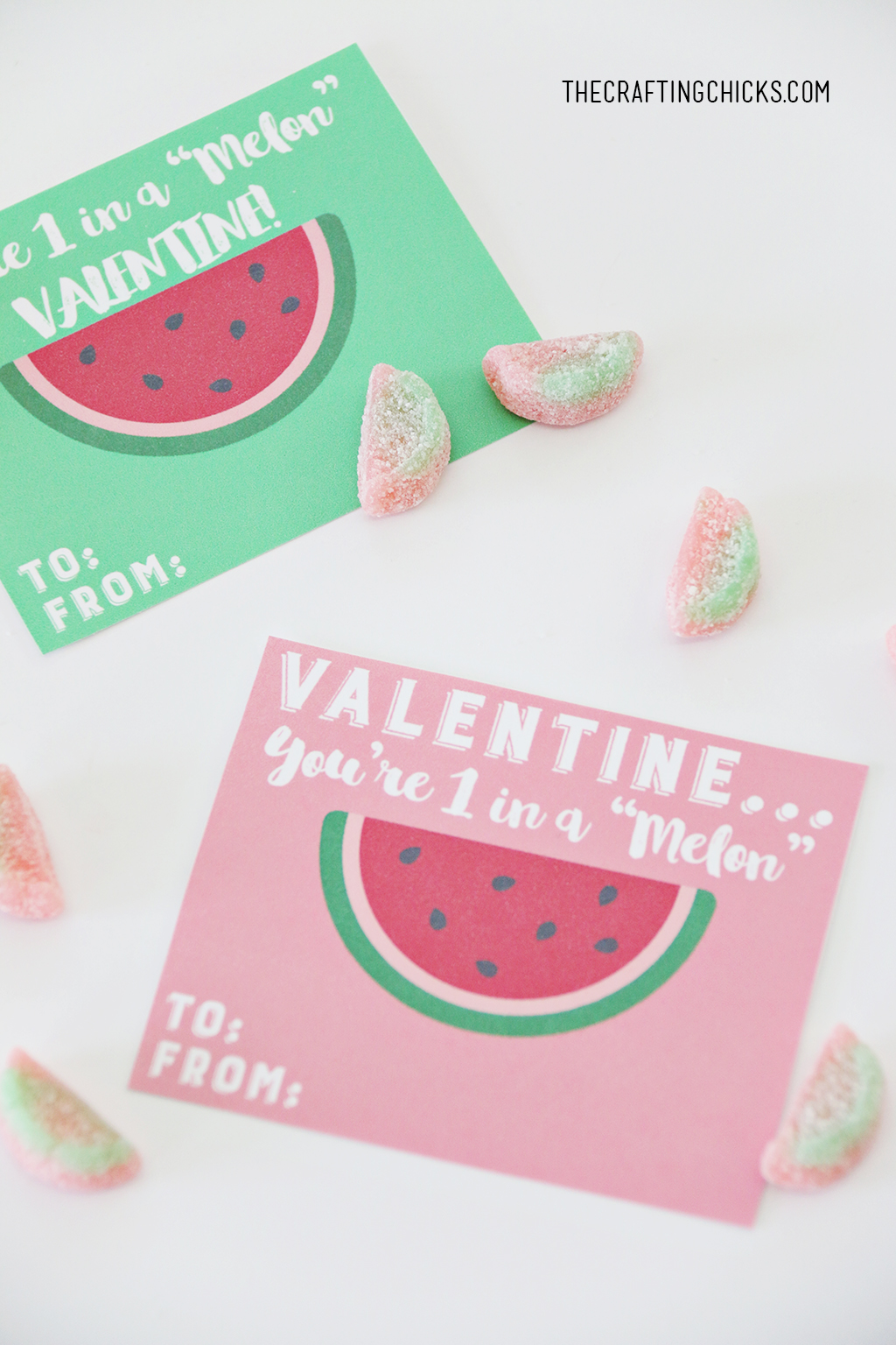 "You're 1 in a ""Melon"" Valentine Printable"