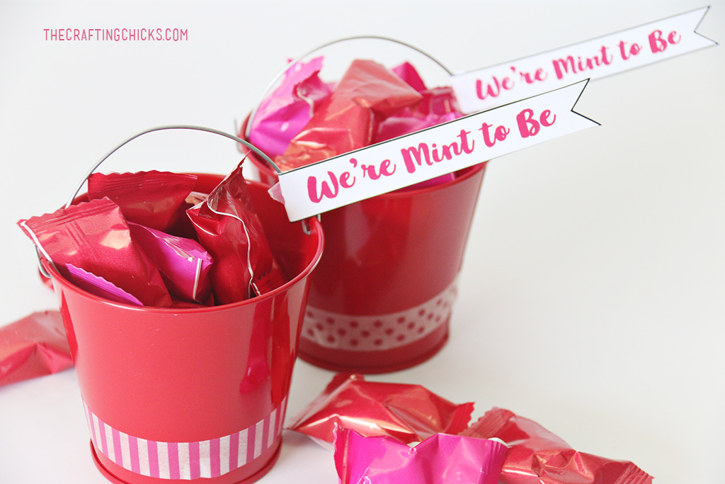 We we're MINT to be Valentine idea. Perfect for fiends and neighbors.