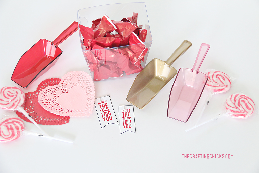 Here's the Scoop I Dig You free valentine printable gift idea.