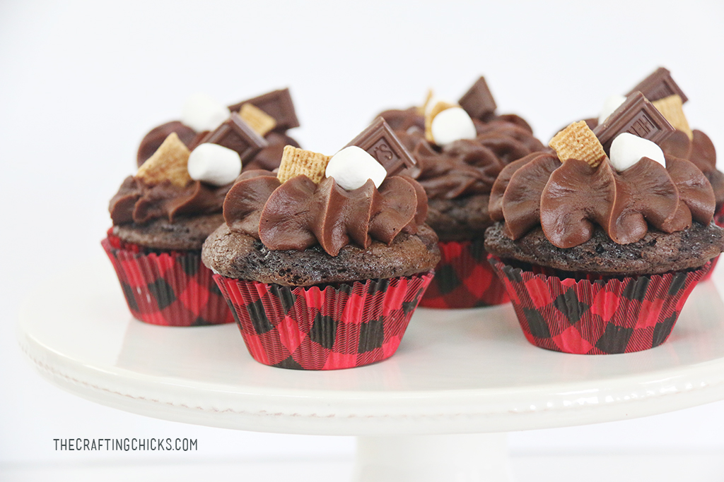 S Mores Cupcake Recipe The Crafting Chicks