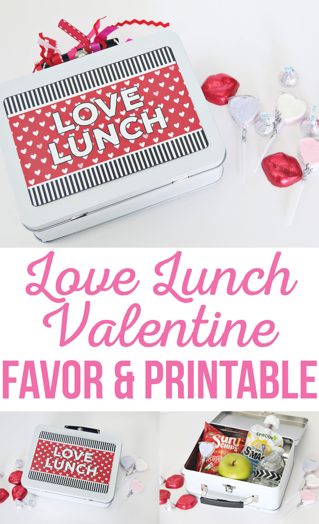 Make your Valentine feel extra special this Valentine's Day with an extra sweet themed lunch box. This simple DIY Love Lunch Valentine Gift Idea is perfect for children as well as adults on Valentine's Day!