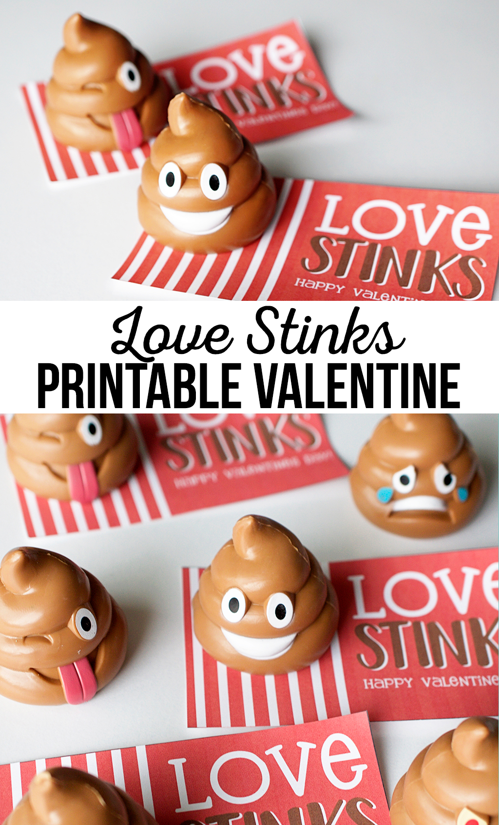 Love stinks printable Valentine