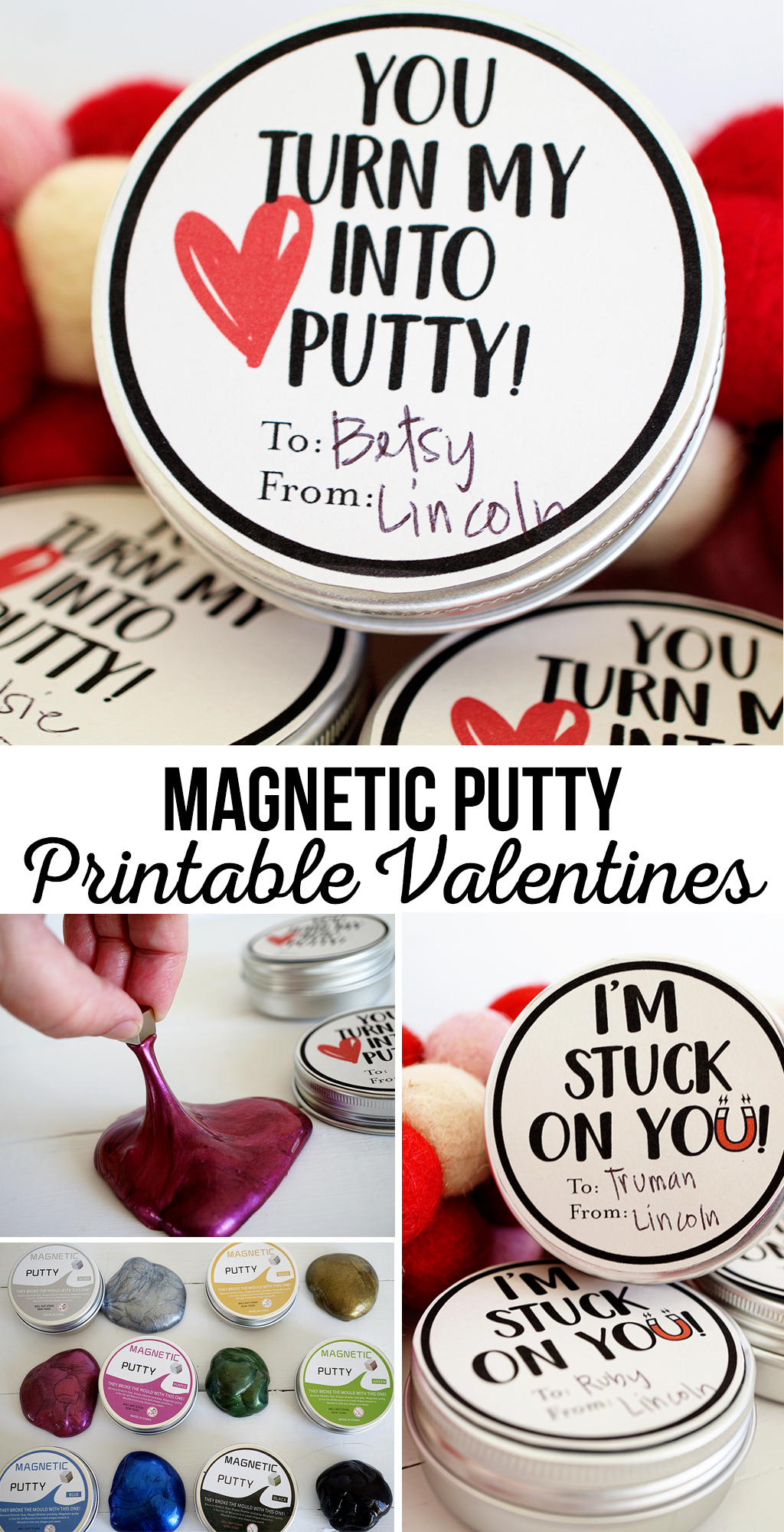 Magnetic Putty Printable Valentines