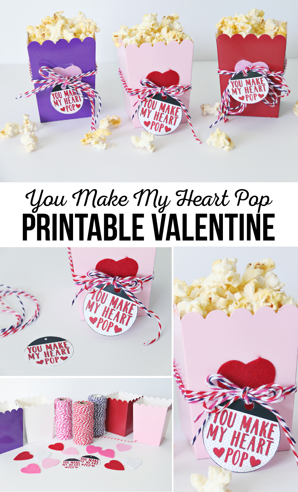 You Make My Heart Pop Printable Valentine