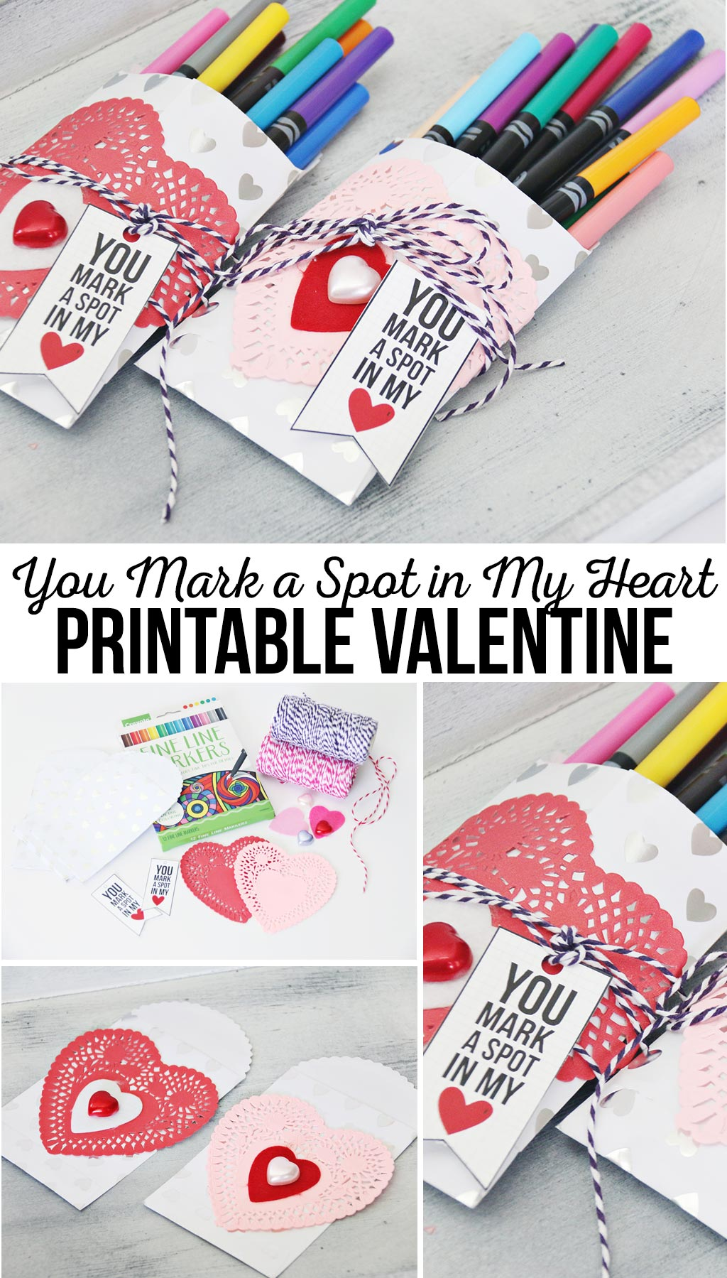 You Mark a Spot in my Heart Printable Valentine