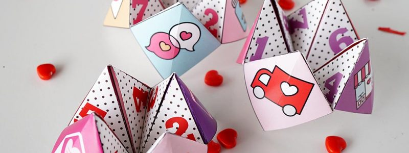 3 Valentine Cootie Catchers