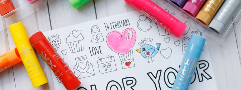 Color Your Heart Out Valentine Coloring Page