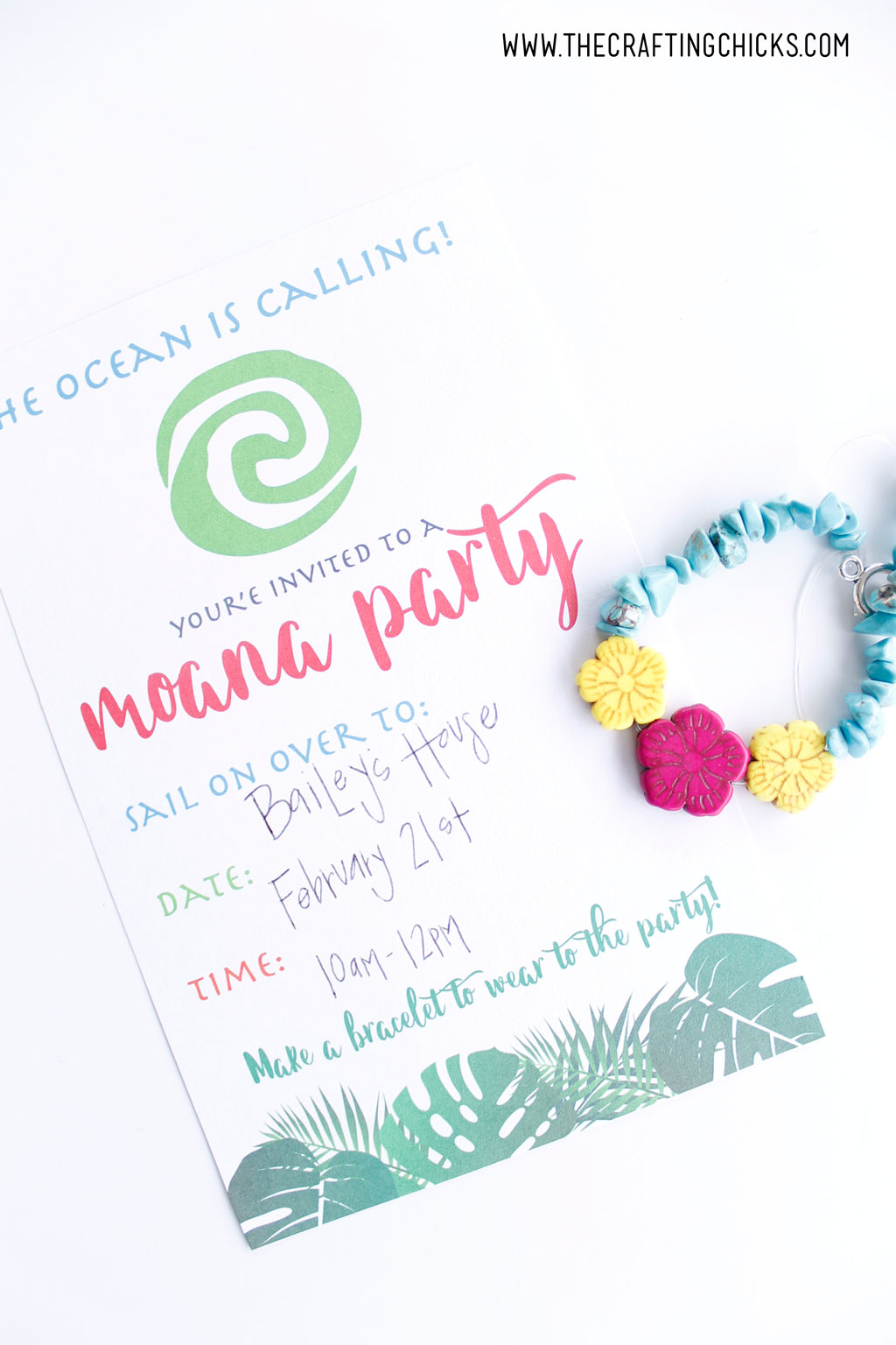 photograph about Moana Sail Printable identified as Moana Bash Invite - The Creating Chicks