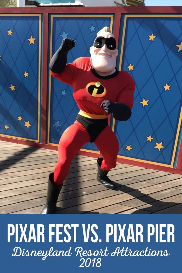 Pixar Pier and Pixar Fest are both new to the Disneyland Resort in 2018. Find out what the difference is and what you can find at each.