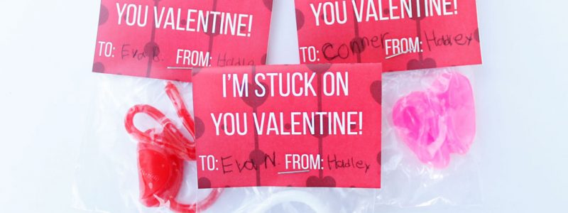 I'm Stuck On You Printable Valentine
