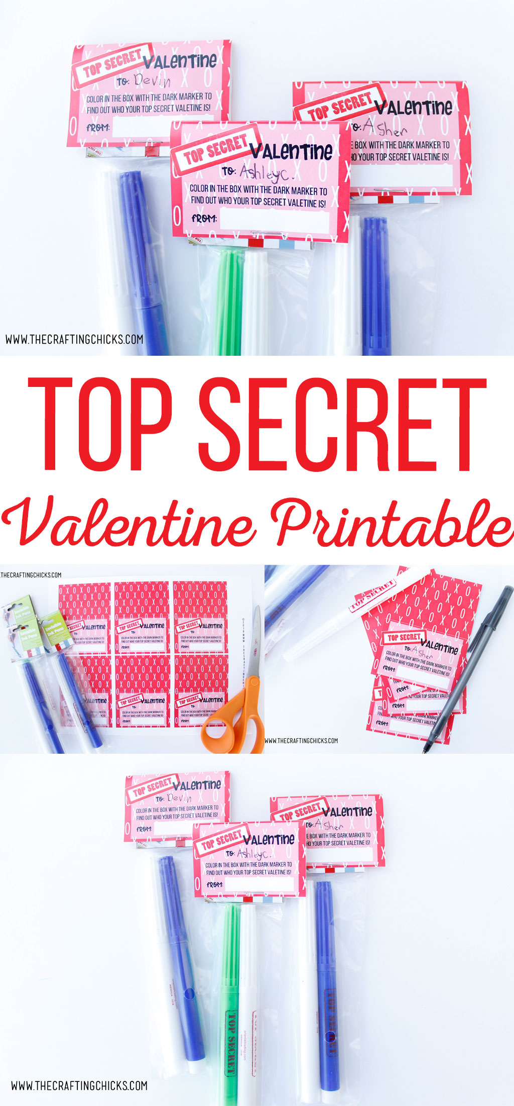 This Top Secret Valentine Printable is sure to be a hit with kids of all ages. They will love the mystery of finding out who this valentine is from by using the special markers inside. A great idea for boys and girls.