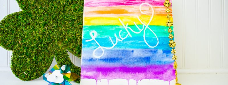 Watercolor Rainbow Craft