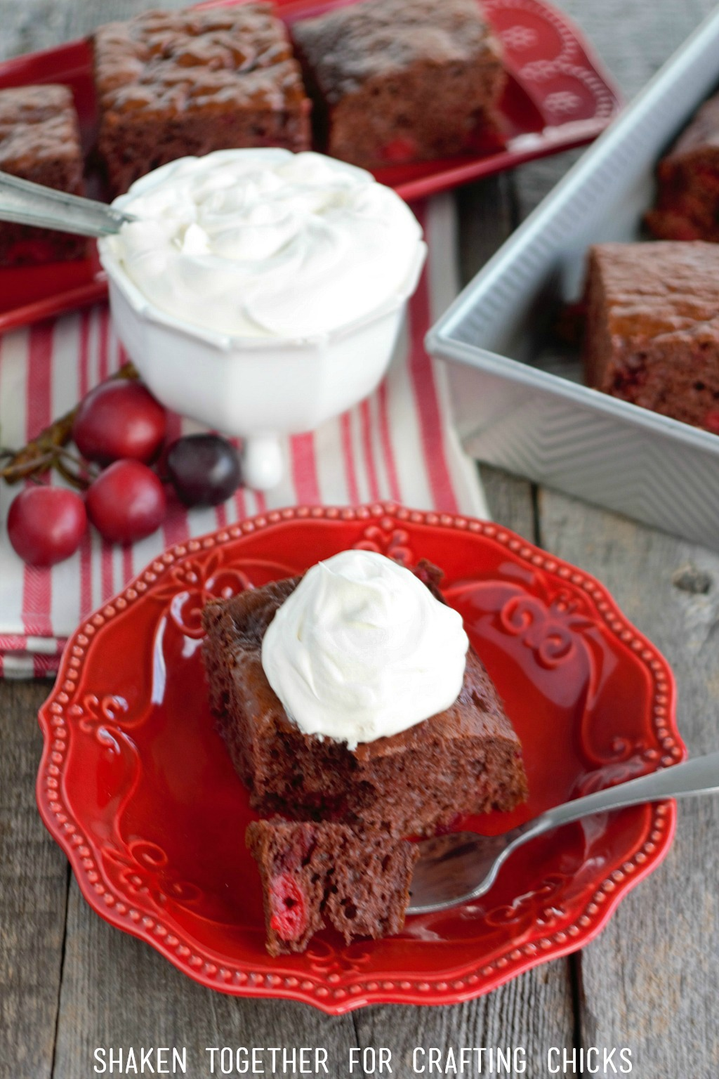 Rich chocolate and tart cherries are the star of the Easiest Black Forest Cake recipe ever!