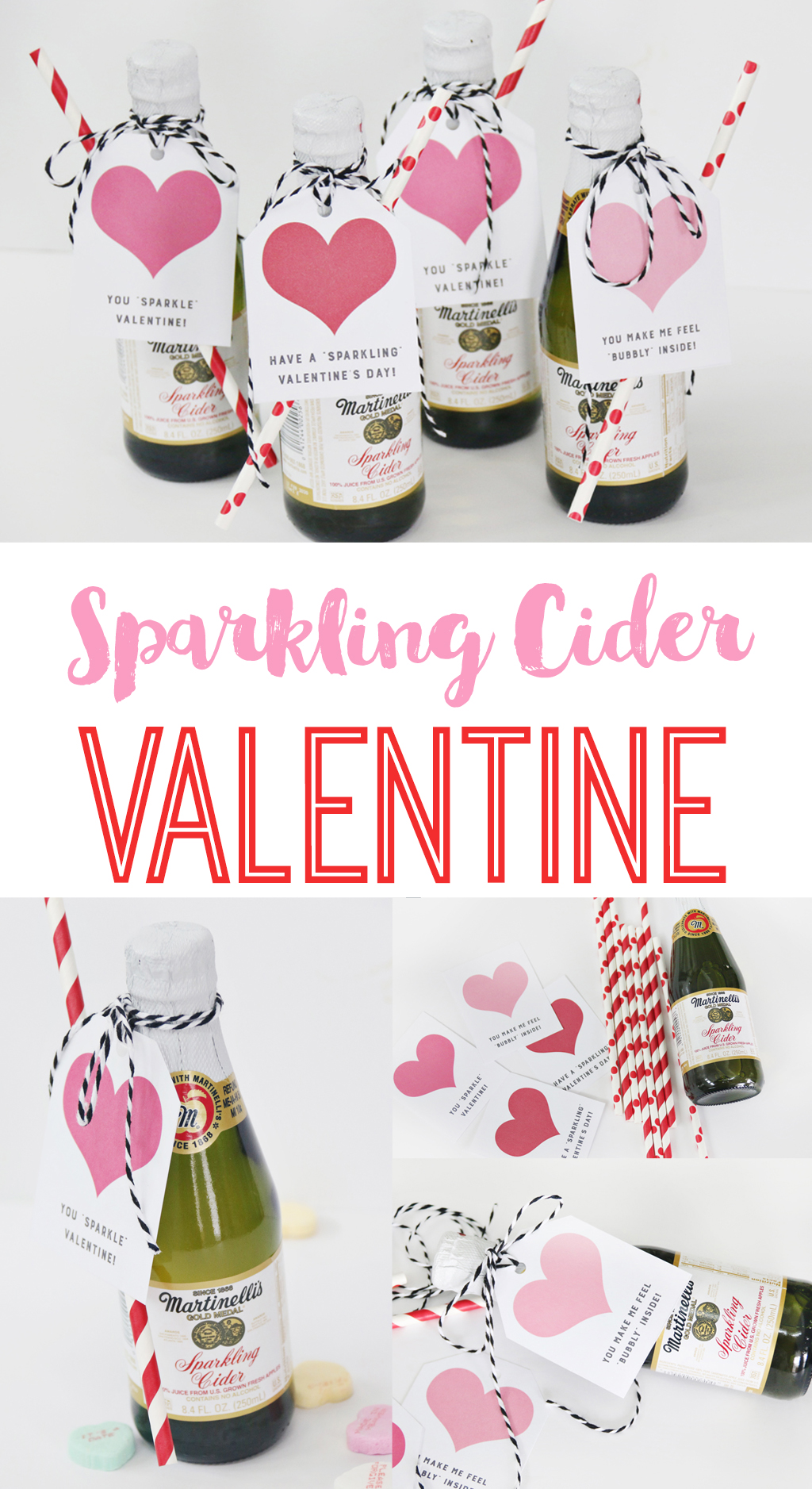 Martinelli\'s Sparkling Cider Valentine\'s Day Party - The Crafting Chicks