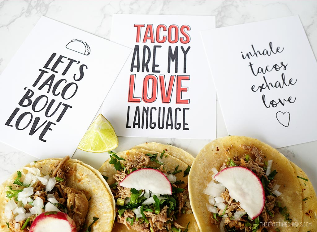 Taco Love Printable Cards