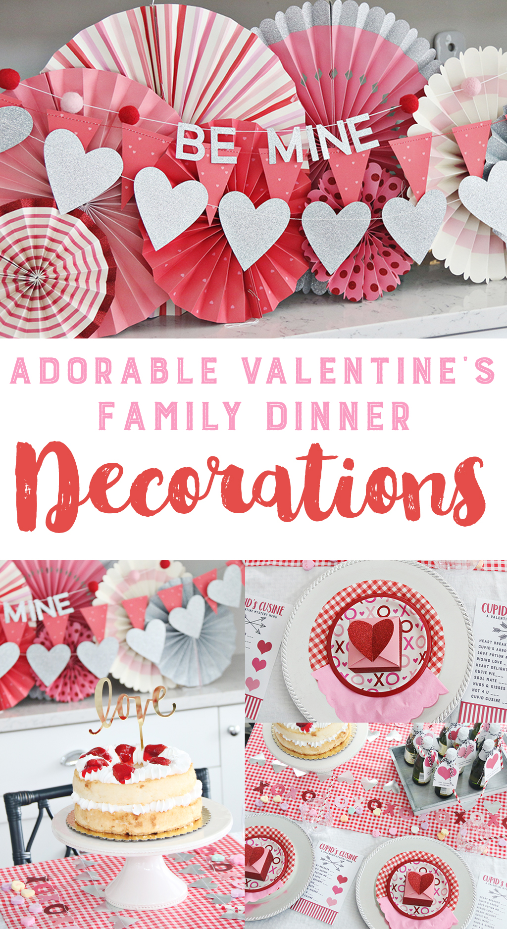Valentine Family Dinner Party Decoratioins