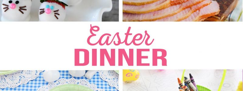 Hosting Easter Dinner | Easter dinner menu, table settings, centerpiece, kids activities, Easter desserts