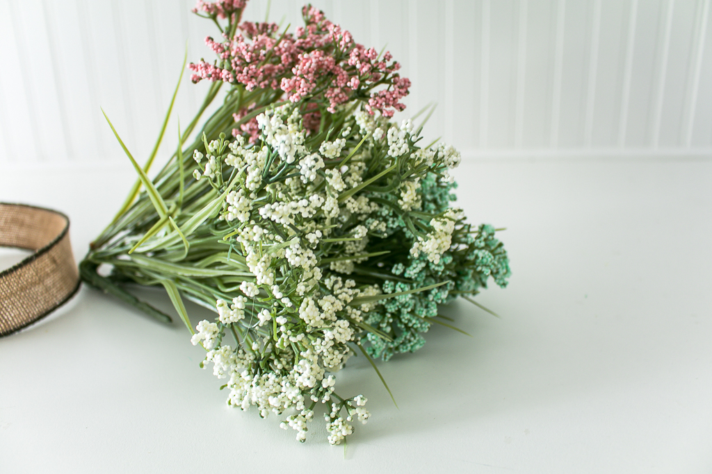 Floral stems for spring wreath