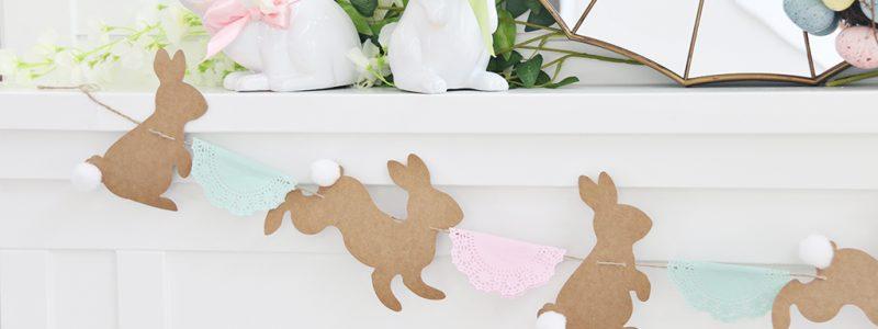 DIY Bunny & Doily Garland