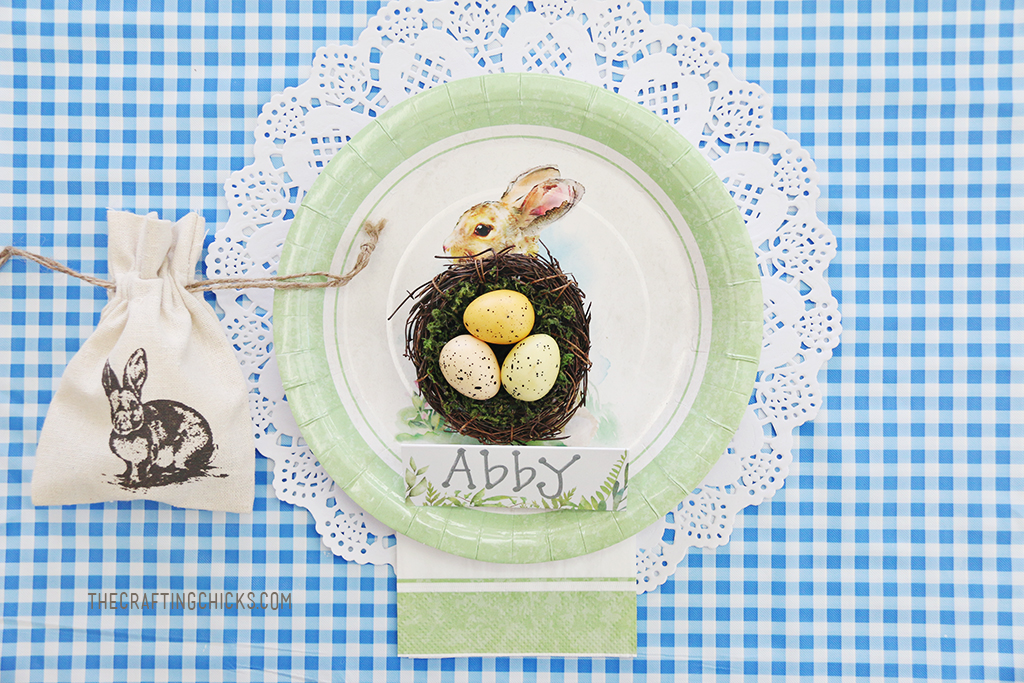 Easter Kid Table Place Settings
