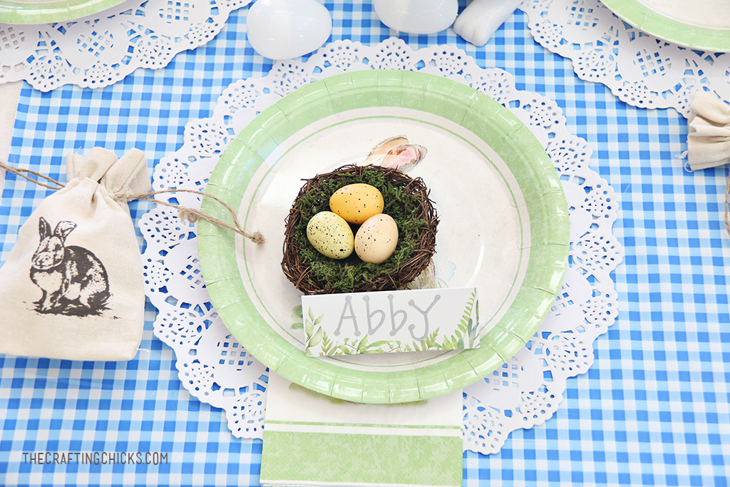 Easter Kid Table Place Settings - The Crafting Chicks