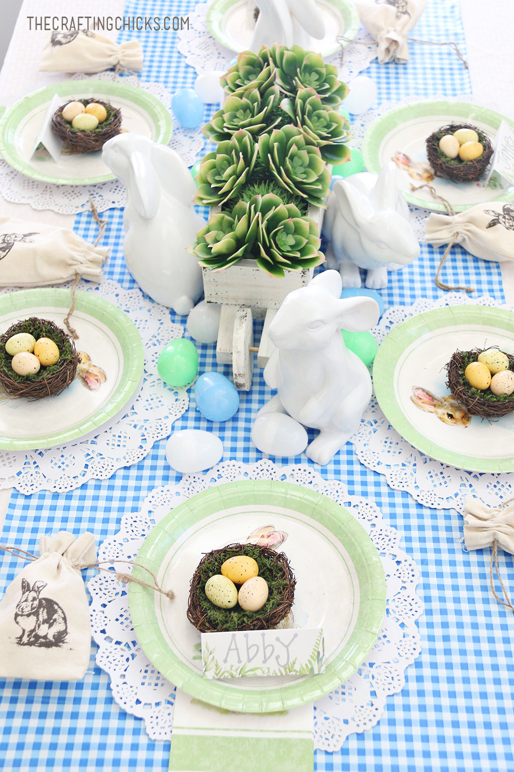Blue and Green Easter Kid Table