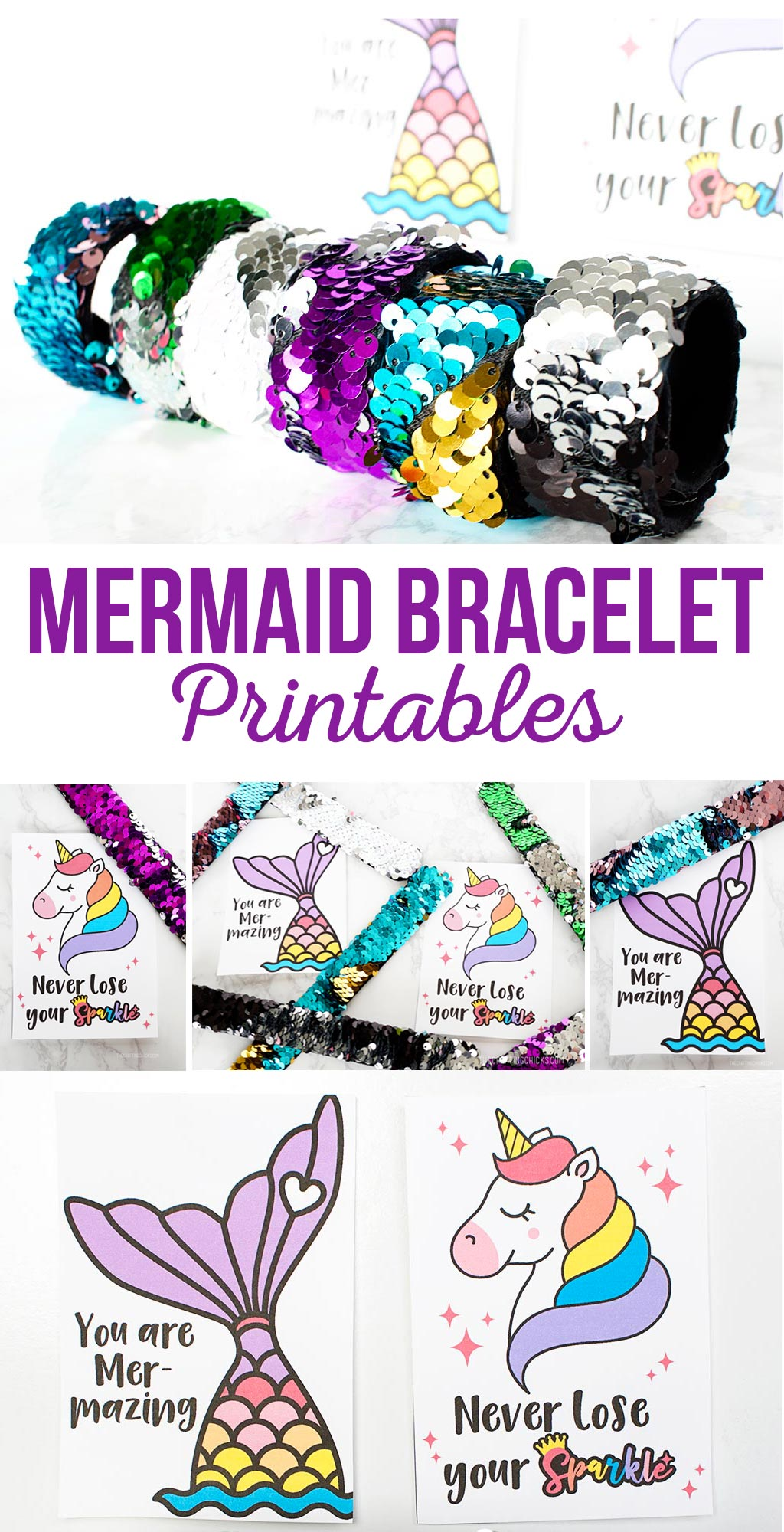 Mermaid Bracelet Printables