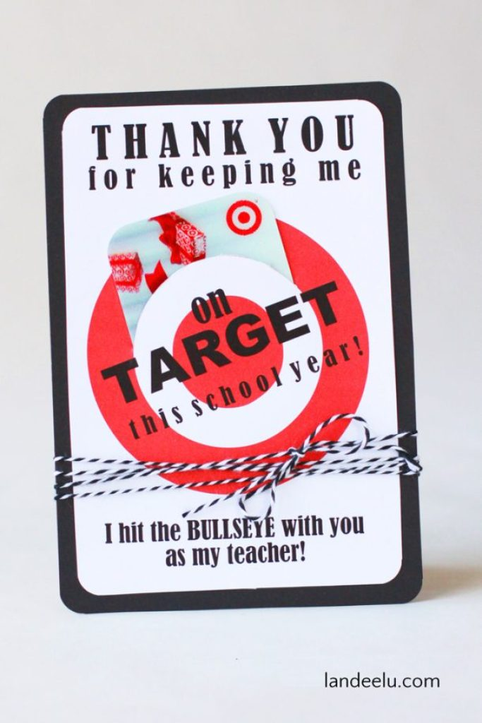 Printable Target Gift Card | Teacher Appreciation Gift
