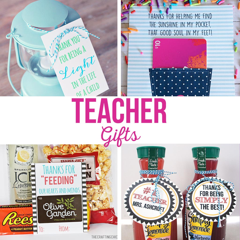Fun and simple teacher gift ideas that won't break the bank. Free printable teacher gift tags.
