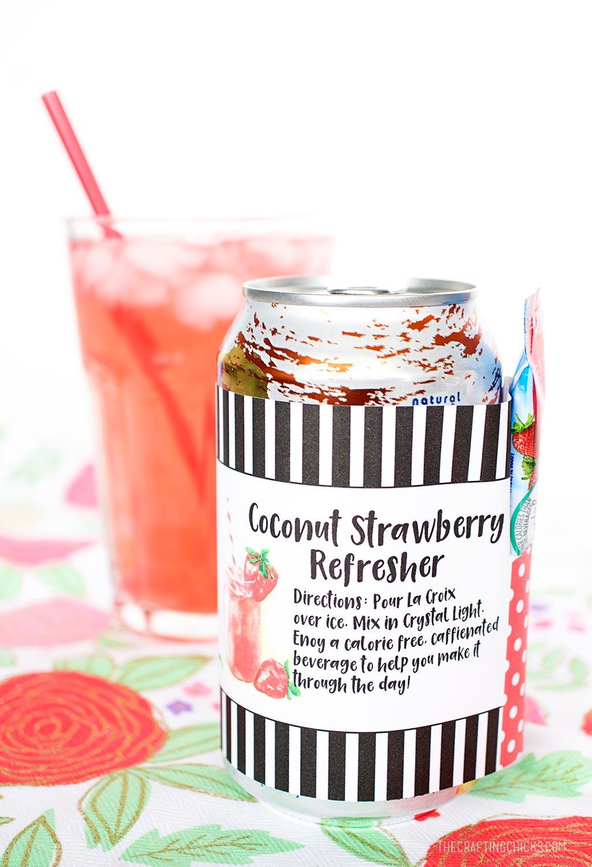 Coconut Strawberry Refresher