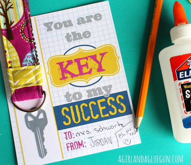 You are the key to my success | Teacher Gift | Free Printable