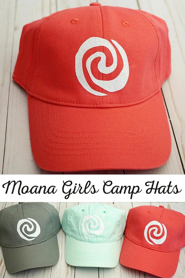 Moana Girls Camp Hats