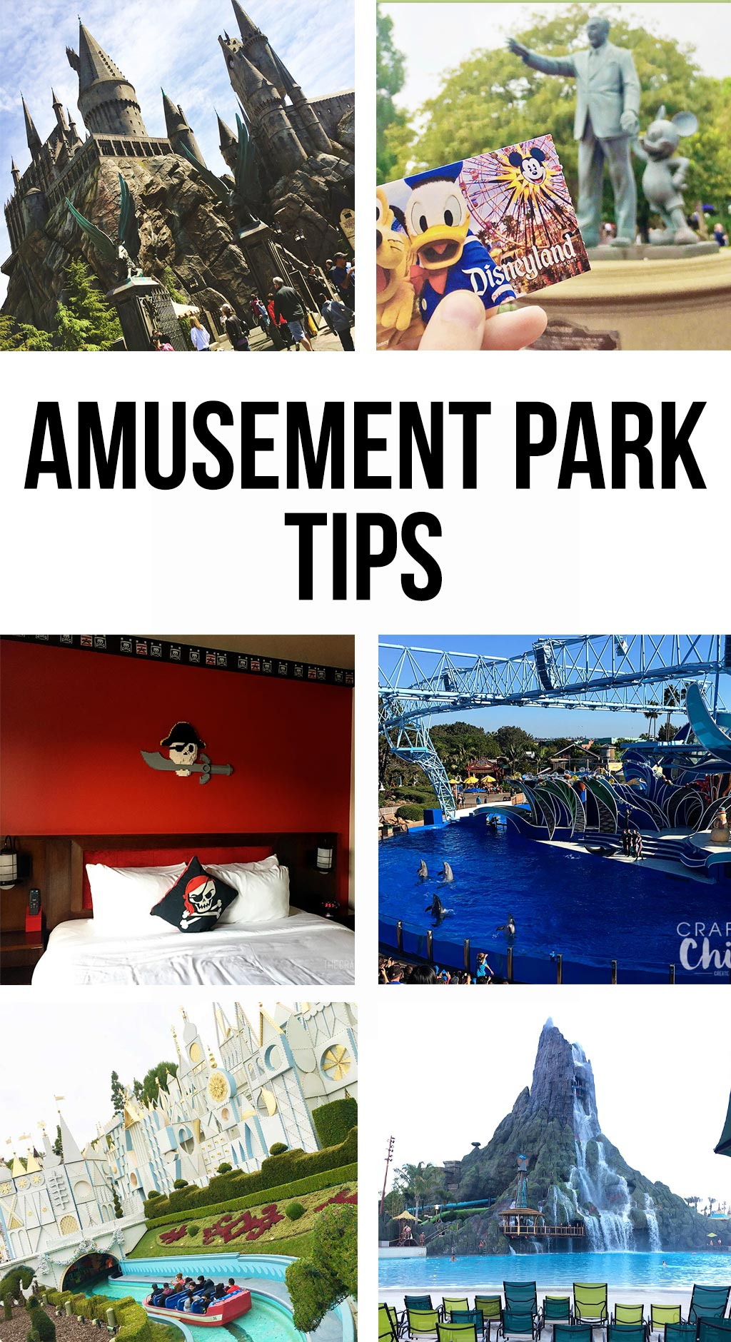 Amusement Park Tips | The best tips and tricks for your favorite amusement parks.  Disneyland, Disney World, Sea World, Universal Studios Hollywood and Orlando, and Legoland.  These are the best secrets! #amusementpark #tips #disneyland #seaworld #legoland #harrypotter #universalstudios