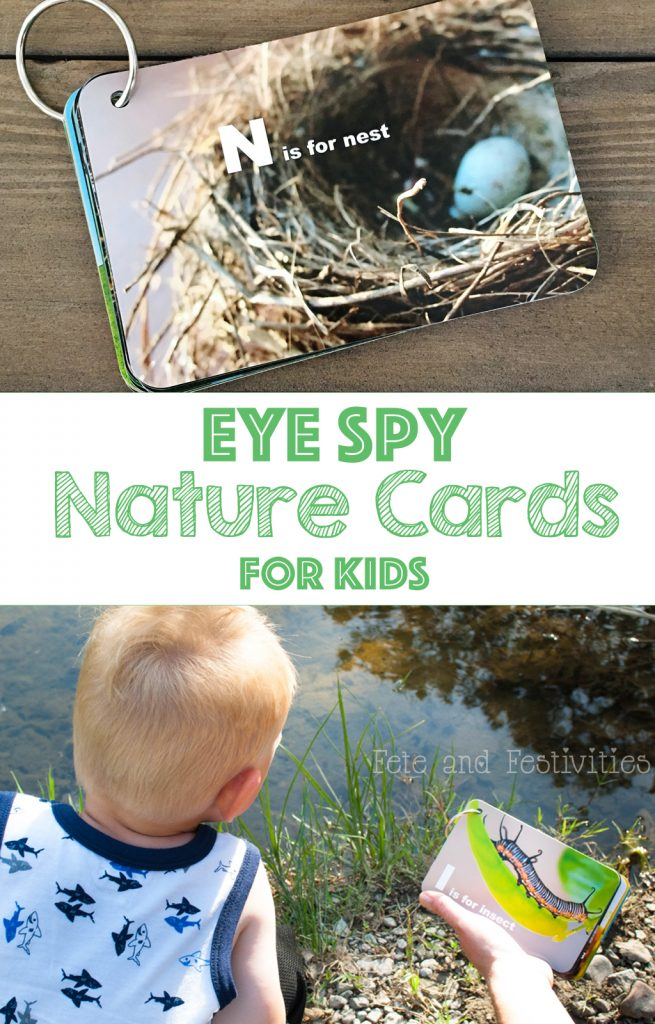 Eye Spy Printable Nature Cards | These printable cards turn every nature walk into a mini scavenger hunt! A perfect activity with your kids this summer! #nature #walk #kids #activity #ispy #printable