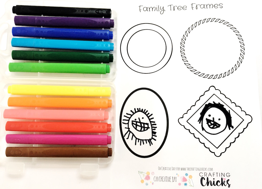 make your own family tree the crafting chicks