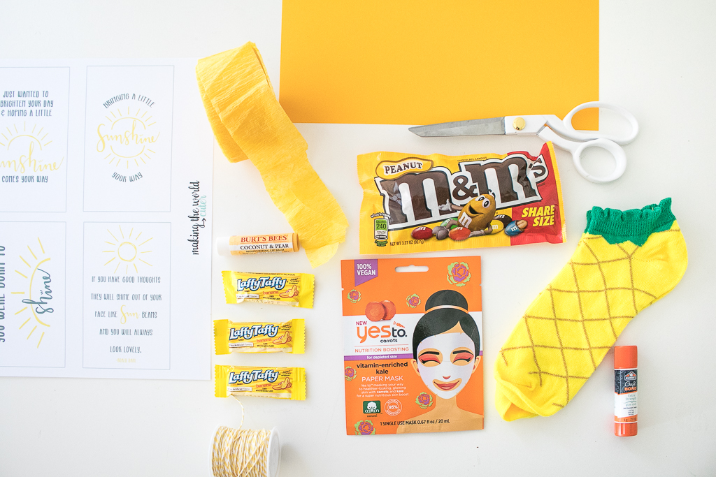 Yellow and Orange Gift Idea Items