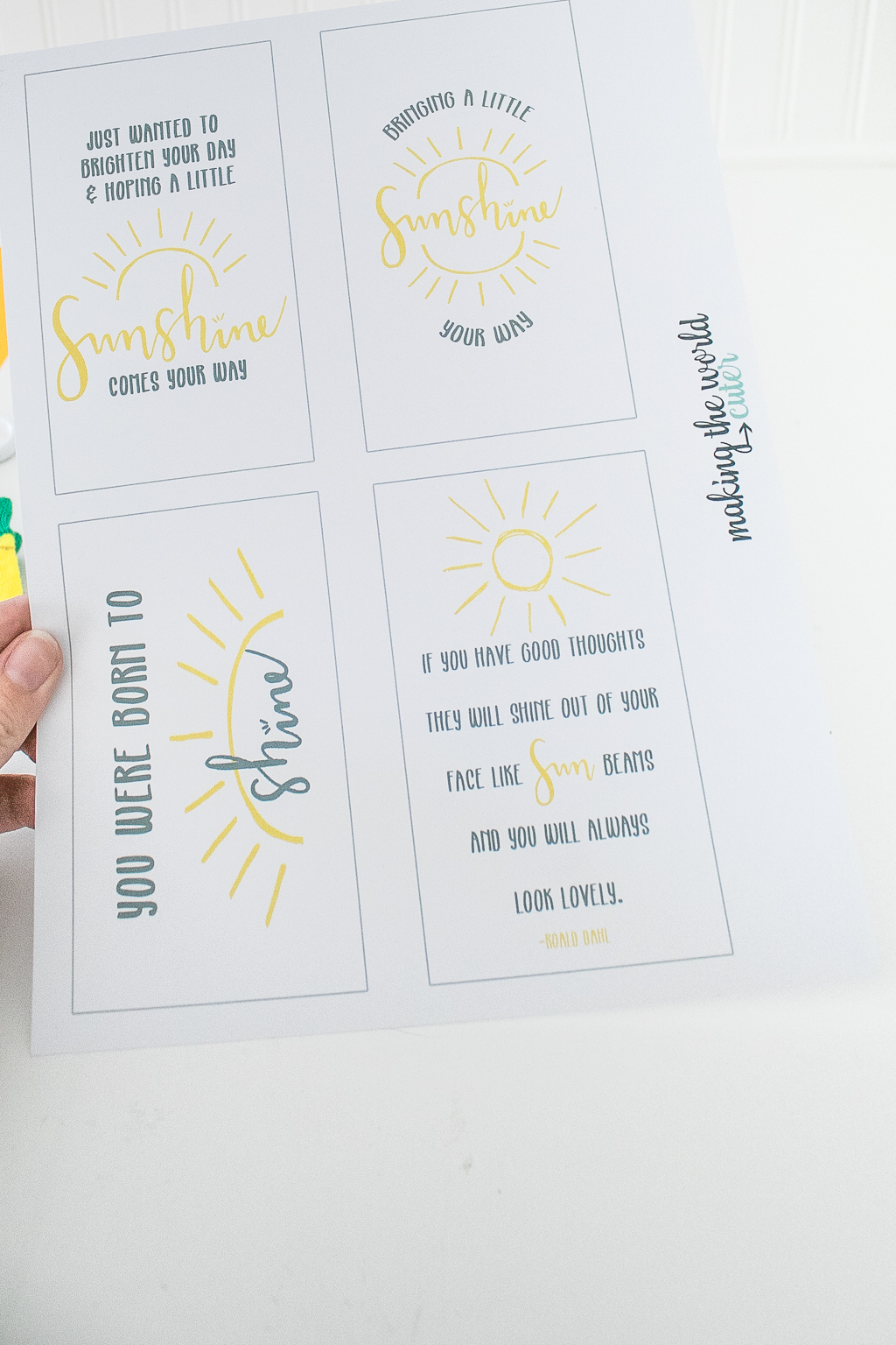 Sunshine Quotes Free Printable Gift Tags
