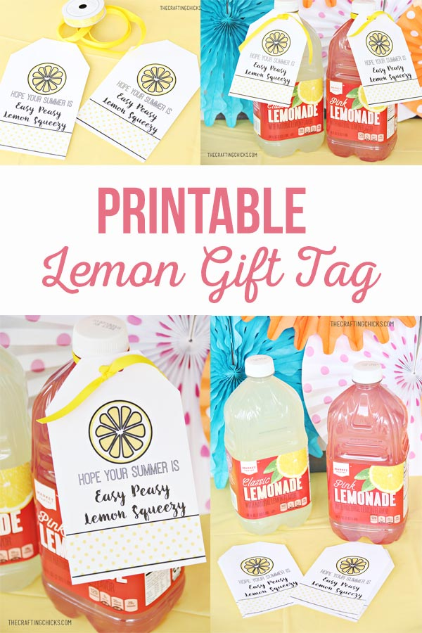 Lemon Gift Tag for Summer
