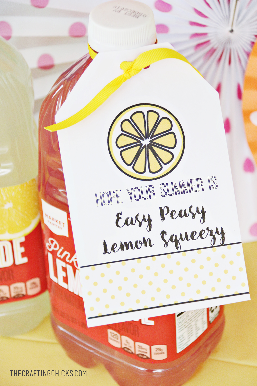 Lemon Gift Tag for Summer for a Summer gift!
