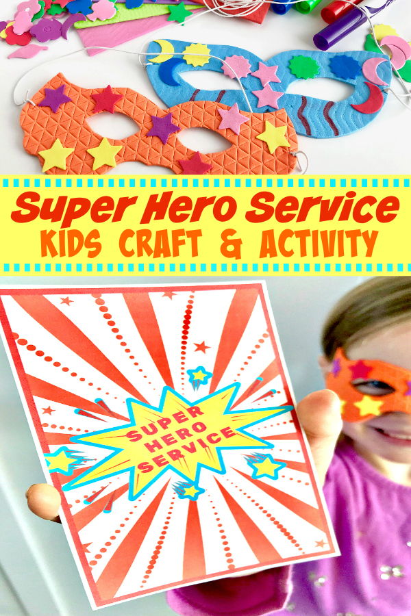 Super Hero Service Activity will get your kids excited about service. This clever activity (with free printable) will have kids rushing to the aid of anyone they can serve. #kids #activity #service #superhero #printable
