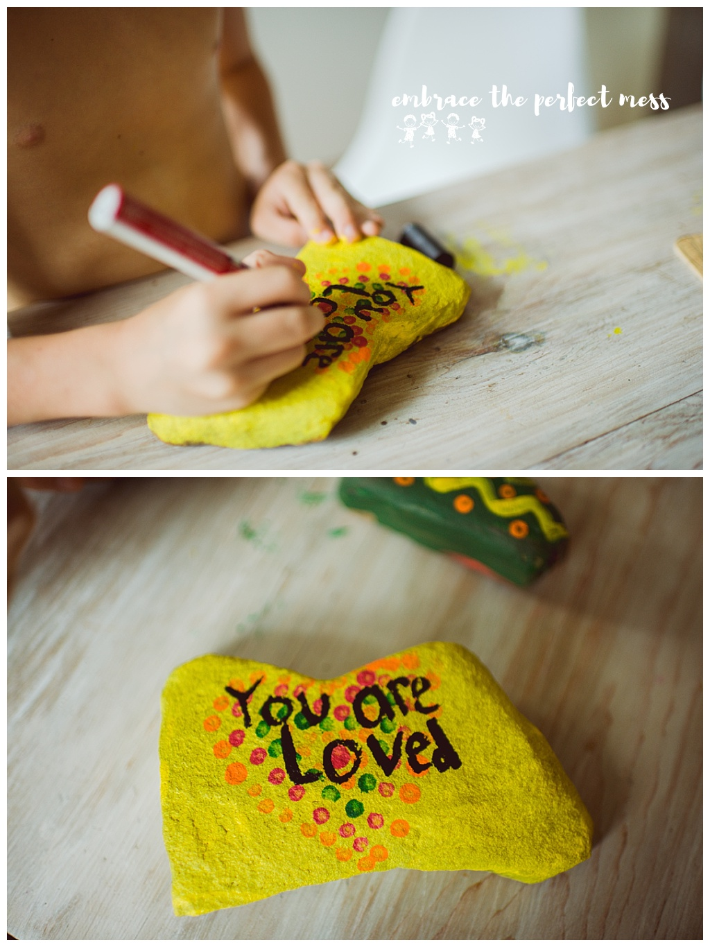 How to make Kindness Rocks. Great summer craft for kids.