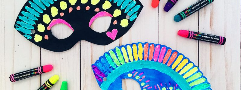 Paper Plate Mask with Free Printable